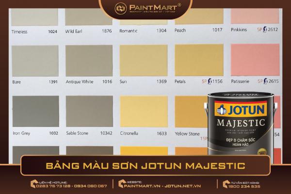 Bảng màu sơn Jotun Majestic