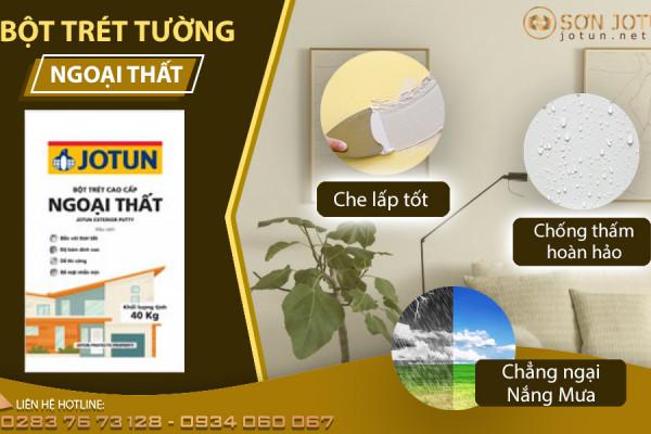 Tai sao Bột trét tường ngoại thất jotun là cao cấp và cách sử dụng bột trét ngoại thất jotun như thế nào cho hiệu quả