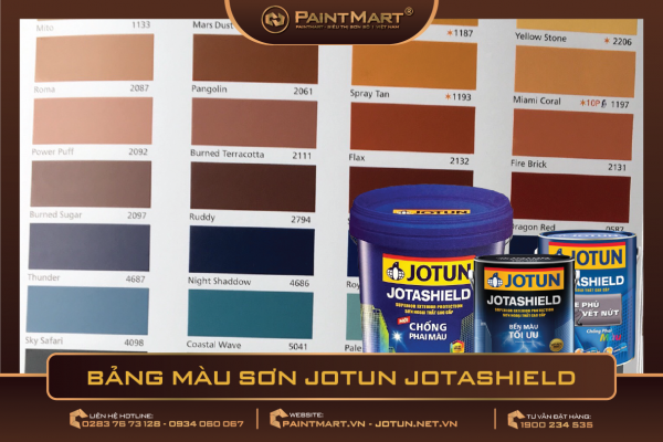 Bảng màu sơn Jotun Jotashield 2020
