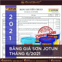 Cập nhật giá sơn Jotun tháng 6/2021
