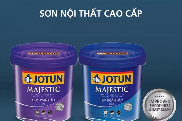 Hãng Sơn Jotun ra mắt sản phẩm Jotun Majestic Đẹp hảo hảo Bóng (mới) và Majestic Đẹp hoàn hảo mờ MỚI